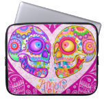 Sugar Skull Couple Laptop Sleeve Laptop Sleeves
