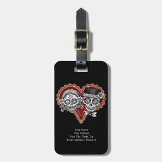 Sugar Skull Couple Luggage Tag - Customize it!