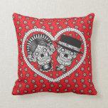 Sugar Skull Couple Pillow