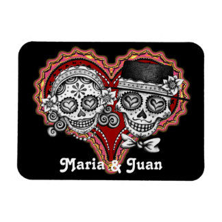 Sugar Skull Couple Premium Magnet - Customize It!