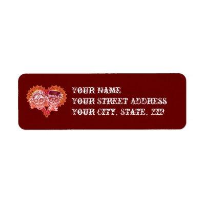 Sugar Skull Couple Return Address Labels