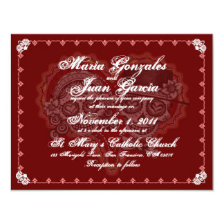 Sugar Skull Couple Wedding Invitations