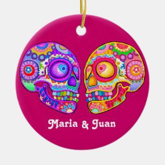 Sugar Skull Couple Wedding Ornament - CUSTOMIZE IT