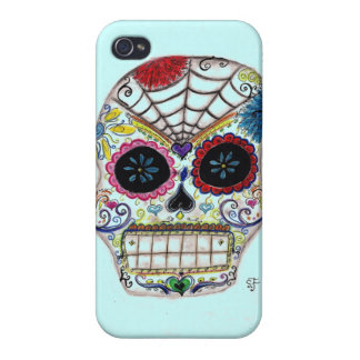Sugar Skull Cover For iPhone 4