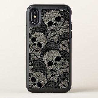 Sugar Skull Crossbones Pattern Apple iPhone X Case