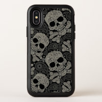 Sugar Skull Crossbones Pattern Apple iPhone X Case