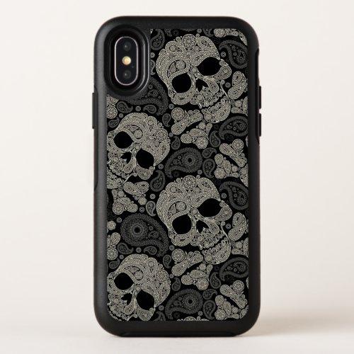 Sugar Skull Crossbones Pattern Apple iPhone X Case Phone Case