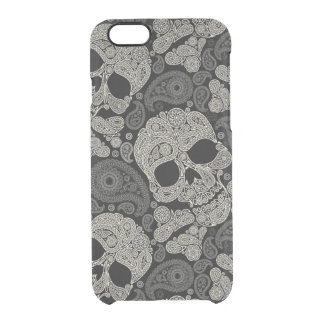 Sugar Skull Crossbones Pattern Clear iPhone 6/6S Case