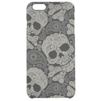 Sugar Skull Crossbones Pattern Clear iPhone 6 Plus Case