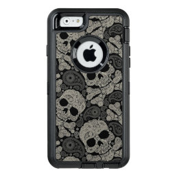Sugar Skull Crossbones Pattern iPhone 6 Case