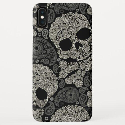 Sugar Skull Crossbones Pattern iPhone XS Max Case Phone Case