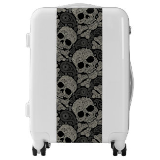Sugar Skull Crossbones Pattern Luggage