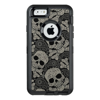 Sugar Skull Crossbones Pattern OtterBox Defender iPhone Case