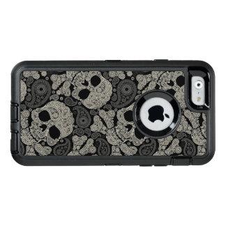 Sugar Skull Crossbones Pattern OtterBox Defender iPhone Case