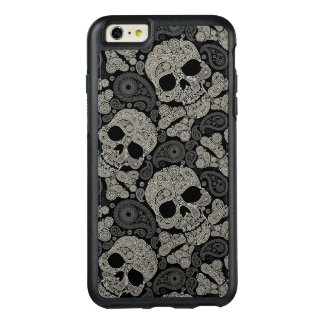 Sugar Skull Crossbones Pattern OtterBox iPhone 6/6s Plus Case