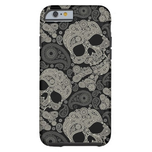 Sugar Skull Crossbones Pattern Tough iPhone 6 Case Phone Case