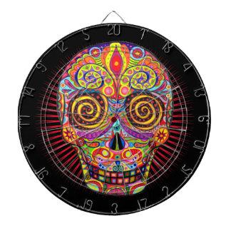 Sugar Skull Dartboard Day of the Dead Art