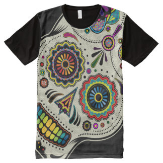 Sugar Skull Day of the Dead All-Over Print T-shirt