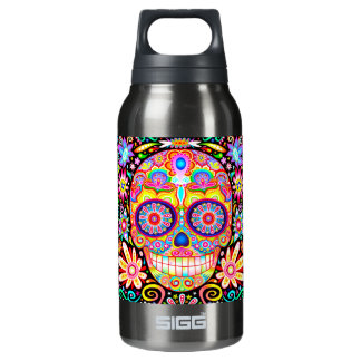 Sugar Skull - Day of the Dead Art Insulated Water Bottle