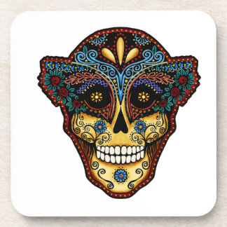 Sugar Skull-Day of the Dead Beverage Coaster