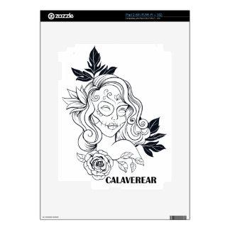 Sugar Skull Day Of The Dead  CALAVEREAR iPad 2 Decal