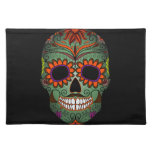 Sugar Skull Day of the Dead Cloth Placemat