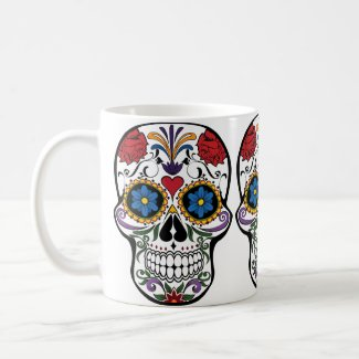 Sugar Skull Day of the Dead Colorful Fun Coffee Mug