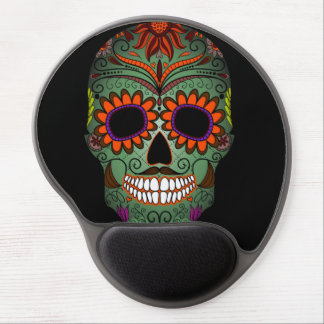 Sugar Skull Day of the Dead Gel Mouse Pad