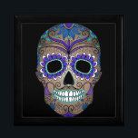 "Sugar Skull Day of the Dead Gift Box<br><div class=""desc"">This is a gorgeous Day of the Dead Sugar Skull with vivid colors.</div>"