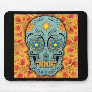 Sugar Skull - Day of the Dead (Marigold) Mouse Pad