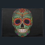"""Sugar Skull Day of the Dead Placemat<br><div class=""""desc"""">This is a gorgeous Day of the Dead Sugar Skull with vivid colors.</div>"""