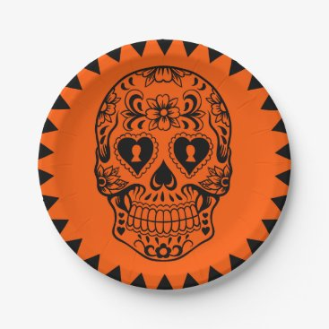 Sugar skull,Day of the Dead plates