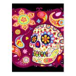 Sugar Skull Day of the Dead Postcard