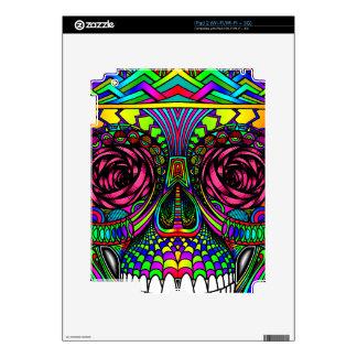 Sugar Skull Day of the Dead Rainbow Colorful Art iPad 2 Decal