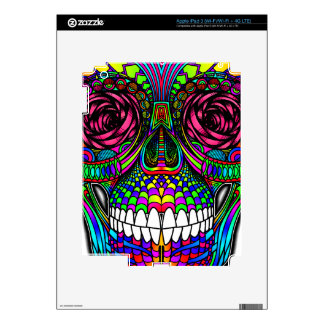 Sugar Skull Day of the Dead Rainbow Colorful Art Skins For iPad 3