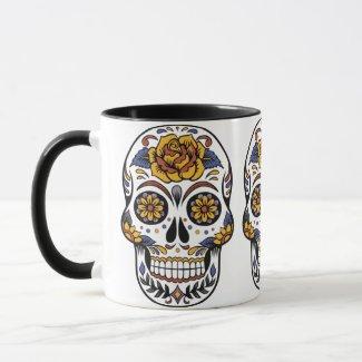 Sugar Skull Day of the Dead Style Colorful Fun Mug