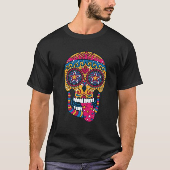 Sugar Skull, Day of the Dead, T-shirt