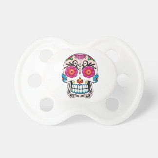Sugar Skull - Day of the Dead, Tattoo, Mexico Pacifier