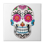 Sugar Skull - Day of the Dead, Tattoo, Mexico Tile