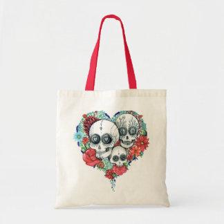 sugar skull day of the dead tote bag