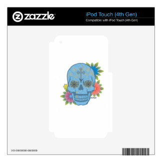 SUGAR SKULL DECALS FOR iPod TOUCH 4G