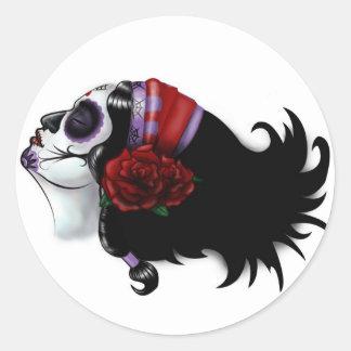 Sugar Skull Design Classic Round Sticker