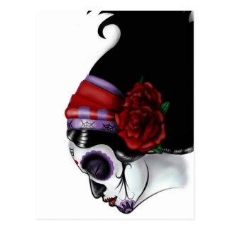 Sugar Skull Design Postcard