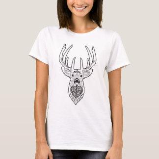Sugar Skull Design Stag / Buck / Deer Head T-Shirt