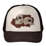 Sugar Skull Design with Roses Trucker Hat