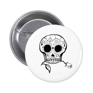 Sugar Skull Día de los Muertos Button