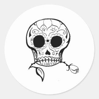 Sugar Skull Día de los Muertos Classic Round Sticker