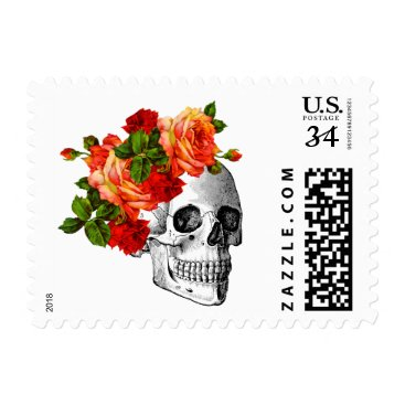 Halloween Themed Sugar Skull Dia De Los Muertos Day of the Dead Postage