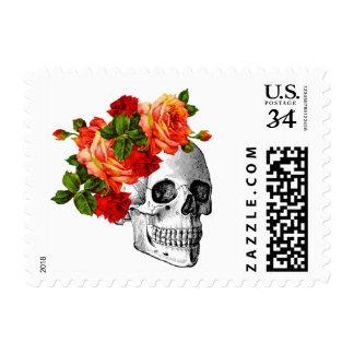 Sugar Skull Dia De Los Muertos Day of the Dead Postage Stamp