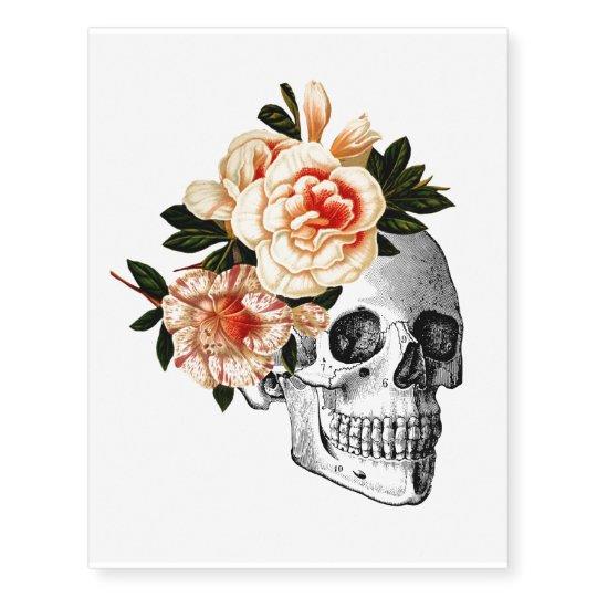 33cfb28de Sugar Skull Dia De Los Muertos Day of the Dead Temporary Tattoos    Zazzle.com